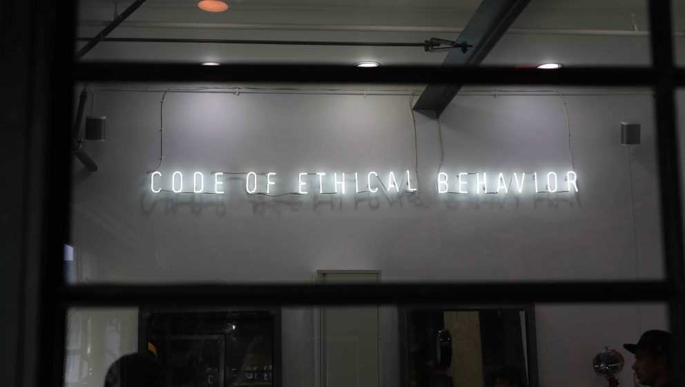 Code of Behaviour Sign